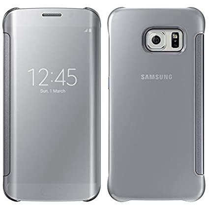on sale c5e50 8941e Samsung Galaxy S6 Edge OEM Silver Clear View Cover