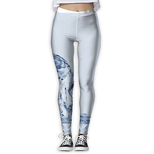 Tinger A Cat Made Of Water Sitting On Water Womens Power Yoga Pants