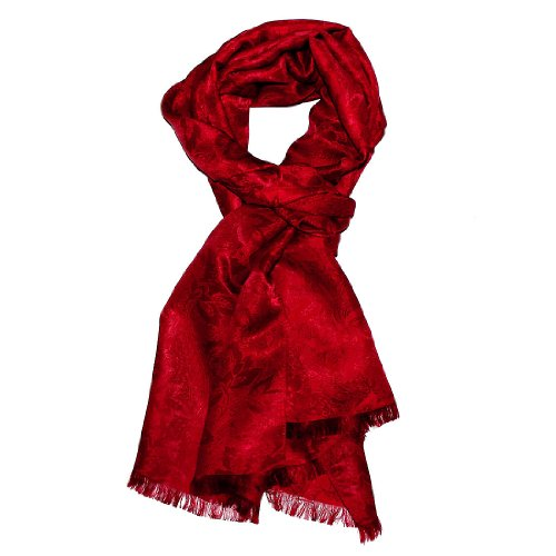 LORENZO CANA - Luxury Silk Damask Jacquard Men's Scarf 22
