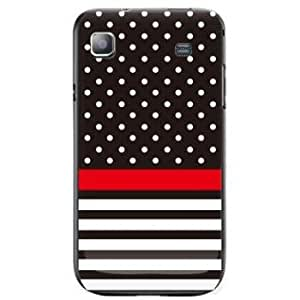 Second Skin AT&T GALAXY S Print Cover Clear (Polka Dot and Horizontal Stripe/Black)