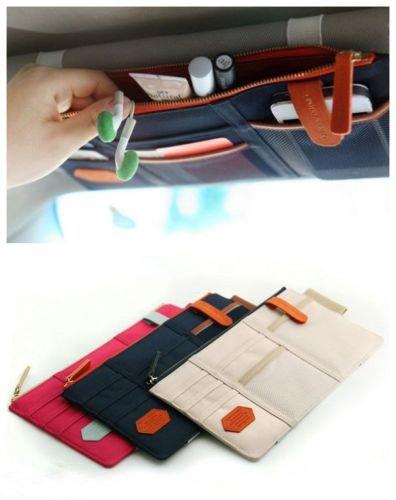 Pocket Organizer Pouch Bag Holder In-Car (Beige) - 2