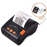 MUNBYN Mini Receipt Printer with Carry Case, 58mm Portable Bluetooth Mobile Thermal Printer, High Print Speed Compatible with Android iOS Windows Systems and ESC/POS Print Commands Set