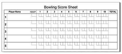 amazon com bowling score pads 3 pack 3 5 x 8 5 50 sheets