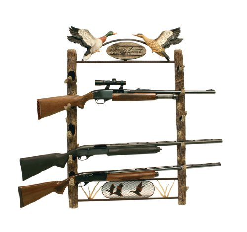 Rush Creek Creations Rustic Log Water Fowl 5-Gun Wall Storage Rack by Rush Creek