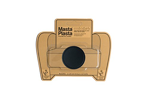 MastaPlasta Self-Adhesive Patch for Leather and Vinyl Repair, Small Circle, black - 2 Inch Diameter - Multiple Colors Available