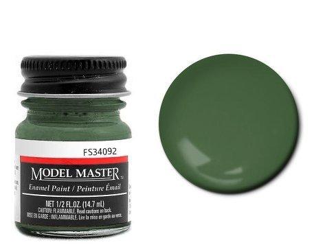 Euro Dark Green Enamel Paint .5 oz bottle FS34092 by Testor Corp.