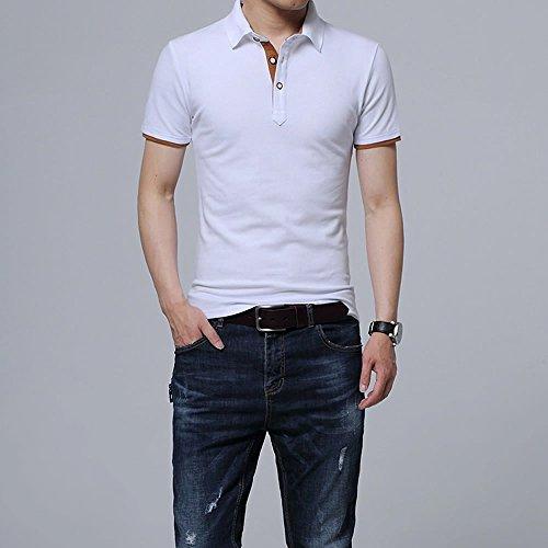 メンズ ポロシャツ ボタンダウン 半袖 重ね着スタイル カジュアル シンプル 襟付き ファッション スポーツ ゴルフ かっこいい 部屋着 快適 吸汗速乾 夏