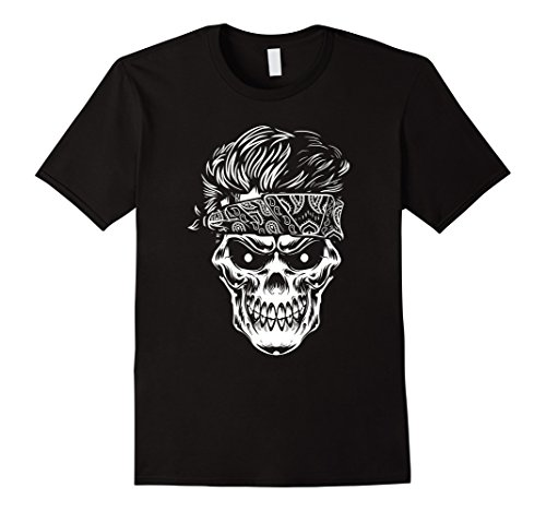 Skull head and clean stylish hairstyle shirt
