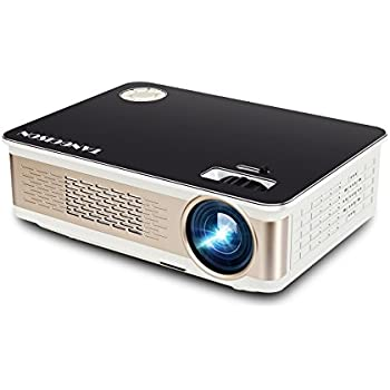 "TANGCISON Home Projector Video Projector, LED Projector 280"" HD 1080P Projector Home Theater Video Mini Projector Multimedia Home Theater Movies Projector (black)"