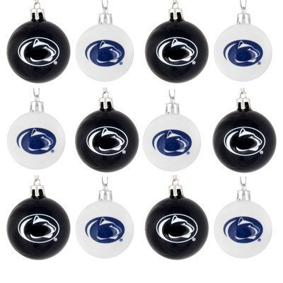 FOCO NCAA Penn State Nittany Lions 12 Pack Ball Hanging Tree Holiday Ornament Set12 Pack Ball Hanging Tree Holiday Ornament Set, Team Color, One Size (Penn Christmas Ornaments State)