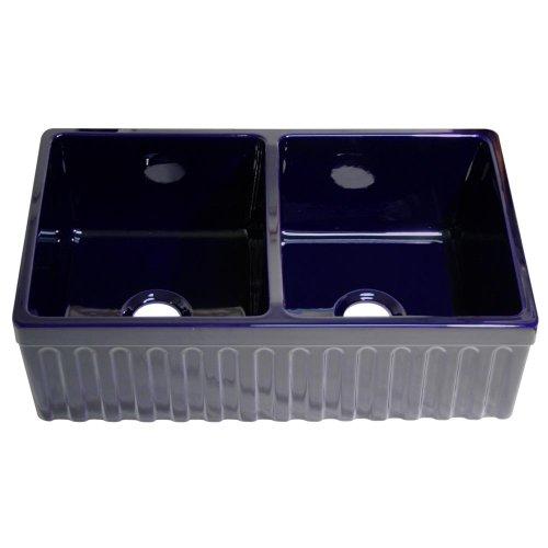 Whitehaus WHQDB332-BLUE Kitchen Sink, 33