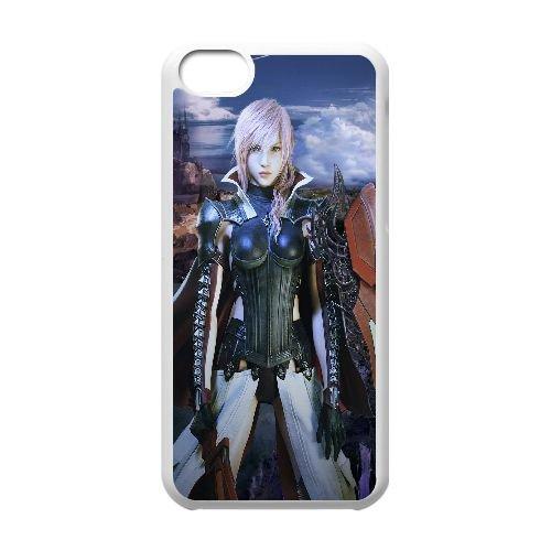 Y7K28 foudre retourne Final Fantasy XIII Z3L6UZ cas d'coque iPhone de téléphone cellulaire 5c couvercle coque blanche XA1ATD1UG