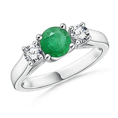 Angara Cathedral Set Blue Sapphire Three Stone Ring in Platinum 0ADPvsE