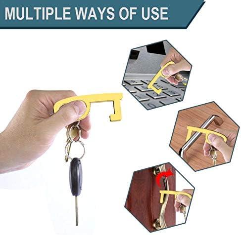 Door Opening Keychain CAPTHOME Non-Contact Door Opener Portable Convenient Safety Hygienic Handle Opening Loop Hook for Keeping Hands Clean