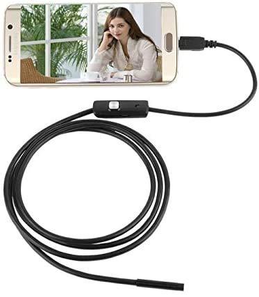 5.5mm Endoscope Ultra-Thin Inspection Camera Semi-Rigid Waterproof Borescope Inspection Camera 6 LED for Andorid Phone