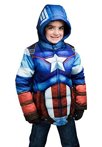 kids captain america jacket - 3