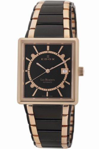 Edox Men's 82005 357RN NIR Les Bemonts Rectangular Automatic Watch