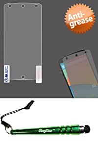 FoxyCase(TM) FREE stylus AND New Phone Models LG D820 (Nexus 5) Anti-grease LCD Screen Protector Clear fabulous Cover