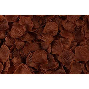 HJQ's store 2000 Pieces Coffee Silk Rose Petals Artificial Flower Petals for Wedding and The Any Other Ocasions 65