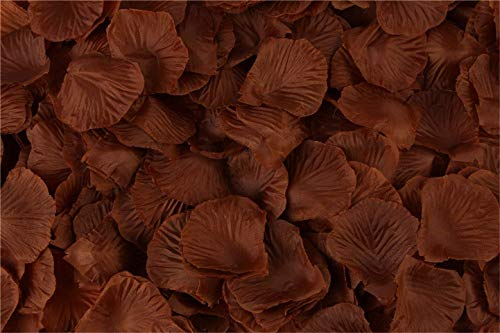 HJQ's store 2000 Pieces Coffee Silk Rose Petals Artificial Flower Petals for Wedding and The Any Other Ocasions