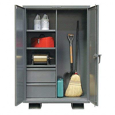 Strong Hold - 45-BC-243-2DB-FLP - Storage Cabinet, Dark Gray, 64 Overall Height, Assembled