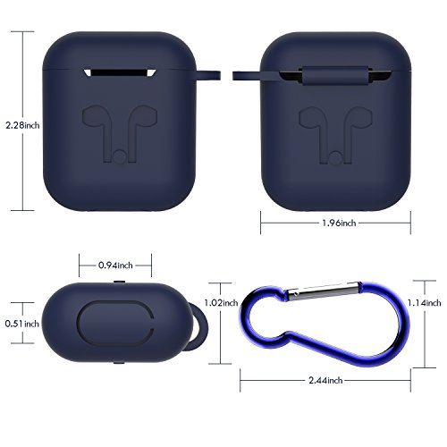 AirPod Case with Strap, GULAKI Airpods Hang Case Airpods Strap Silicone Cover and Skin Accessories for Apple AirPods Charging Case (Black)