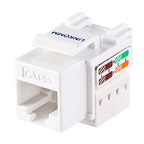 LINKOMM (10 Pack) RJ45 Cat5e Keystone Jack, ()