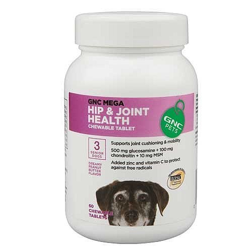 GNC Pets Mega Hip & Joint Health for Senior Dogs - Peanut Butter Flavor 60 ()