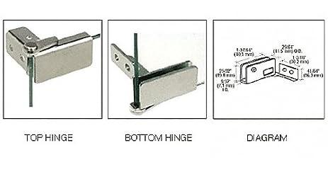 crl chrome surface mount glass door hinges pair