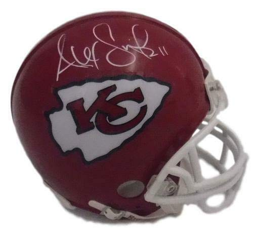 (Alex Smith Autographed Kansas City Chiefs Mini Helmet in White)
