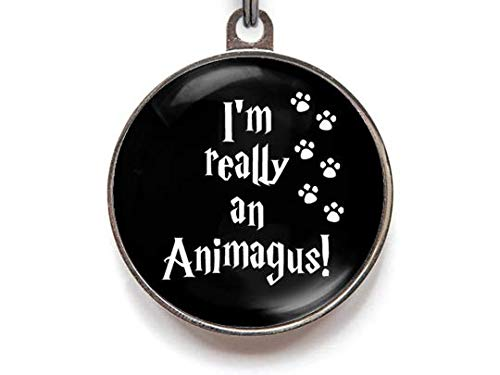 Wag-A-Tude Tags Animagus Tag Pet Tag Custom Dog Tag Cat Tag Custom Pet Tag (Large) -