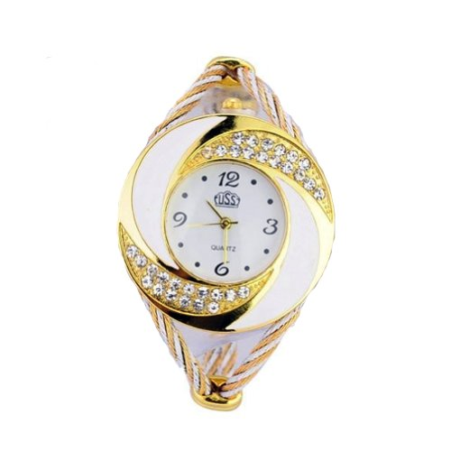 eave Women Dress Bracelet Wrist Watches White ()