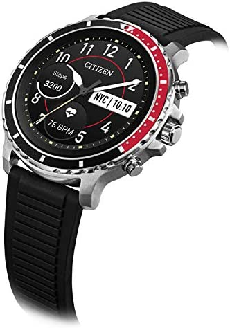 418B6 wWWCL. AC Citizen CZ Smart Stainless Steel Smartwatch Touchscreen, Heartrate, GPS, Speaker, Bluetooth, Notifications, iPhone and Android Compatible, Powered by Google Wear OS    From the manufacturer