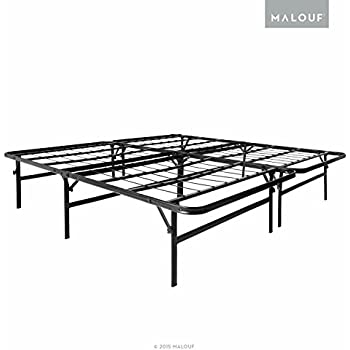 this item structures highrise lth 18 inch tall folding bed base high profile platform bed frame and box spring in one twin xl