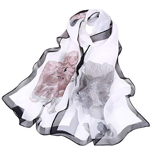 Choker Donna Aimee7 Inverno Boho Sciarpa Autunno Vintage Bianco Elegante Scialle Lungo Stampato O5q8xr5w1