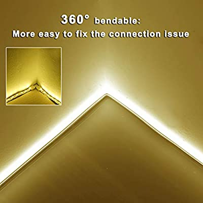 Lamomo DIY Led Strip Lights, 16.4ft/5m IP65 Waterproof Light Strip Kit, 12V Flexible LED Rope with 600 SMD 2835 LEDs, UL Listed for Indoors Outdoors Decor