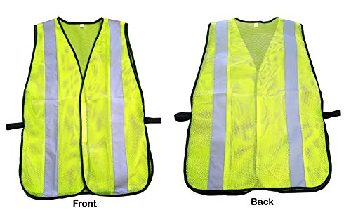 High Visibility Yellow Safety Vest By Reflectes – Breathable Reflective Security Vest For Men & Women With 2 Inch Reflective Strips- Ideal For Jogging, Running, Bike Riders, Traffic & Workers (12Pack) by Reflectes (Image #1)