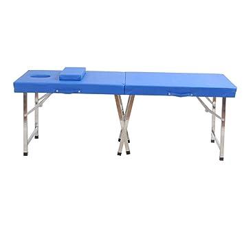 Mesa de masaje portátil, cama de masaje plegable con reposacabezas ...