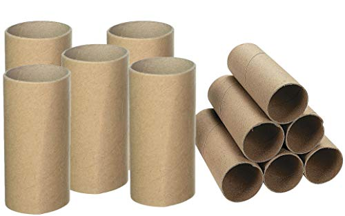 (Cardboard Tubes Bulk, Pack of 24 Arts and Crafts Rolls, DIY Artrolls, Craft Supplies for Handmade Projects, Activities at Home and School, 4E's)
