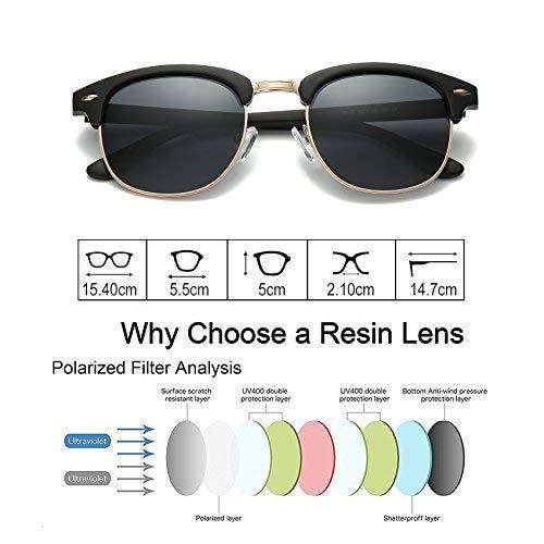 b86f02189ae wearpro Sports Polarized Sunglasses for Men Driving Sunglasses Al-Mg Metal  Frame WP1005 (Matte