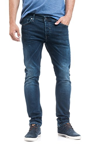 Pantalones Slender y Salsa Slim Tacto Azul Suave Carrot Vaqueros AHcHq4FdW