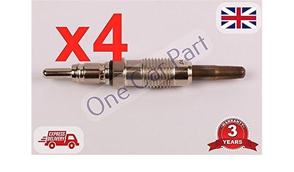 4 x patrulla 4.2 Pick Up 2.5d 2.7d Sunny, 1.7d, Concerto 2.7d Delphi Bujía de Incandescencia: Amazon.es: Coche y moto