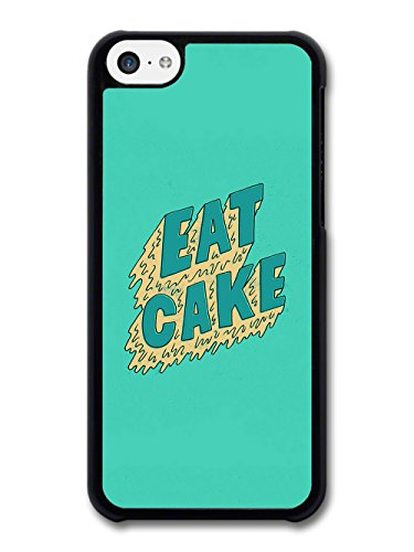 Cool Pop Eat Cake on Green Design case for iPhone 5C