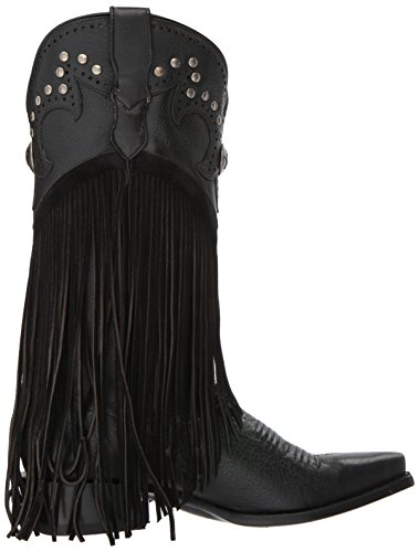 Women's Concha Boot Western Roper Black 4zPgqwwCxf