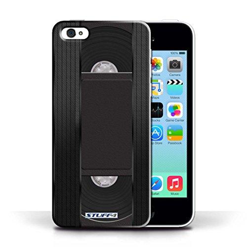 KOBALT® Hülle Case für Apple iPhone 5C   VHS-Kassette Video Entwurf   Retro Techik Kollektion