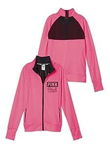 Victoria's Secret Pink Ultimate Track Jacket Mesh Back
