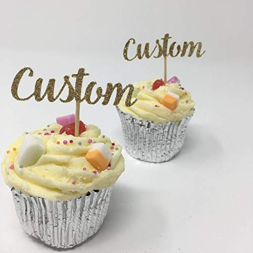 (Custom cupcake topper. Customised birthday decor. Personalised party decor.)