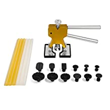 Mookis Paintless Dent Removal, 22PCS Car Repair Kit PDR Tools, Dent Lifter with Glue Stricks, Pro Pulling Tabs Kit