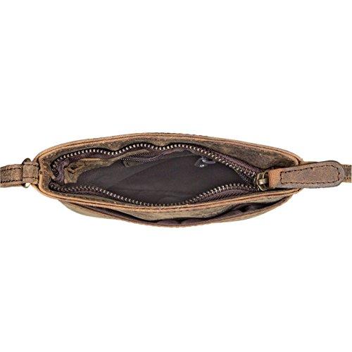 Bandoulière En Femmes 'lana' Couleur L'épaule Colorado Main Marron Cuir D'épaule selle À Sac Vintage Pour Stilord wtY88
