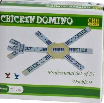 Professional Color Dot Chicken Dominoes with Centerpiece & Marker